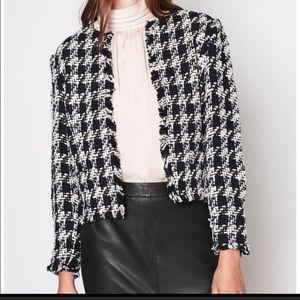 New JOIE tweed houndstooth jacket
